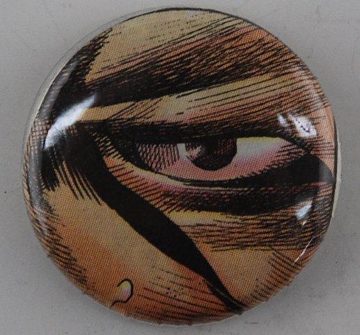 eye pin-back button, comic pin-back button