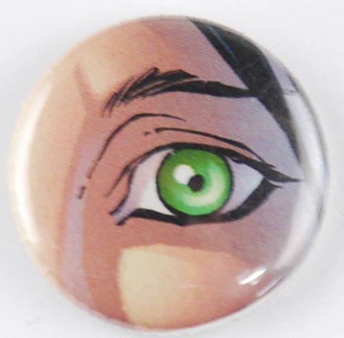 eye pinback button