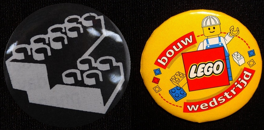 lego buttons, pin-back buttons