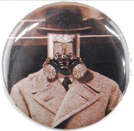 steampunk button, steampunk pinback button