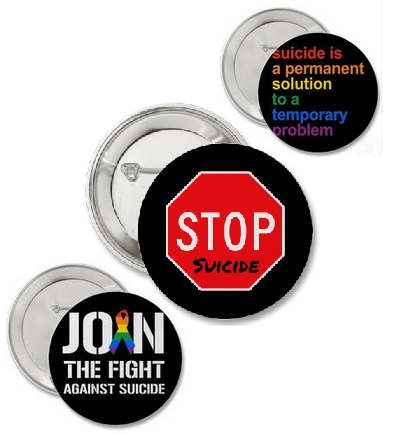 suicide pinback buttons, suicide pin-back buttons, lgbt buttons, lgbt pins