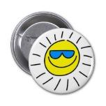 sun button, sun pin-back button, sun badge, summer button