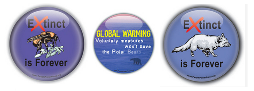 Earth Day buttons, environmental buttons