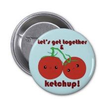 ketchup button, condiment button