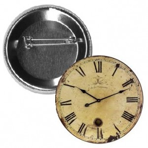 clock button, clock pin-back button