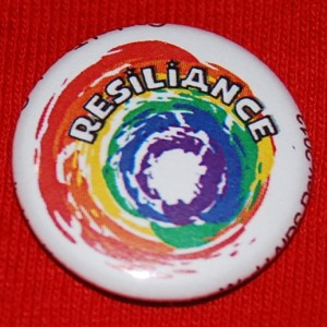 LGBT button, queer pride buttons, LGBT pride buttons, resilience button, LGBT pin-back button, resiliance button, resilience pin-back button, rainbow