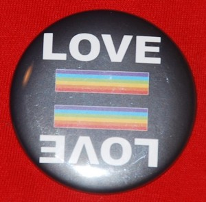 love button, lgbt pride pin-back button, love pin-back button, political button, queer pride pin-back button, pride flag