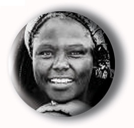 Black History Month pin-back button, Black History Month button, People of Colour button, feminist button, Wangari Maathai button